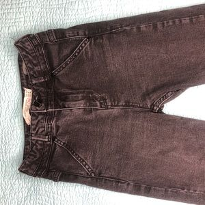 Zara - Black distressed skinny jeans - size 02